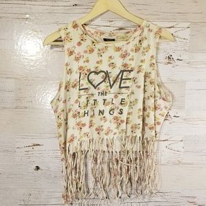 Love the Little Things fringe tank top